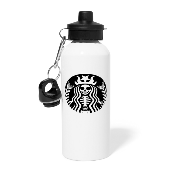 Skeleton Siren Water Bottle - white