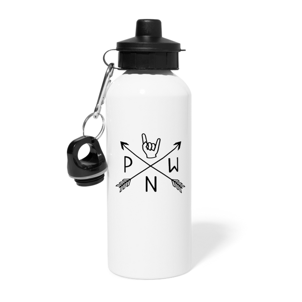 PNW Rock Local Scene Pride Water Bottle - white