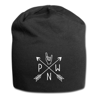 PNW Rock Local Scene Pride Jersey Beanie - black