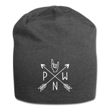 PNW Rock Local Scene Pride Jersey Beanie - charcoal gray