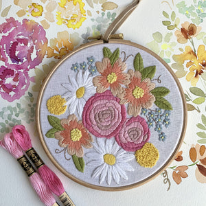 PDF  6 Inch Petite Blooms Hoop From the petite Bouquet collection