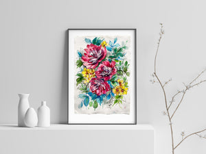 Rose Garden Original Artwork