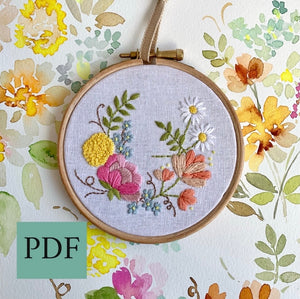 PDF 4 inch Petite Floral From the Petite Bouquet collection