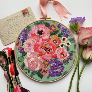 NEW** Vintage Rose embroidery kit
