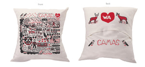 Julia Gash Camas Throw Pillow