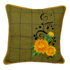 "'Kerria' - Irish Tweed Cushion, 16""x16"""