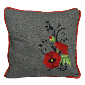 "'Poppy' - Irish Tweed Cushion, 16""x16"""