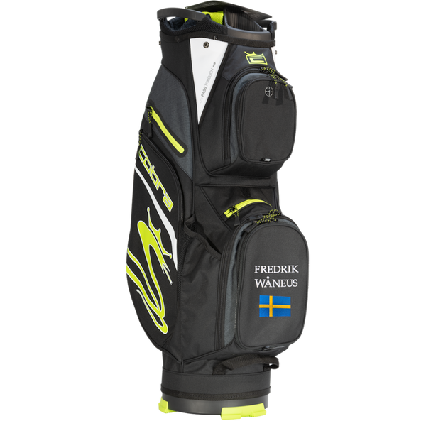Cobra Ultralight Cart Bag med namn+flagga (Fluo Yellow)