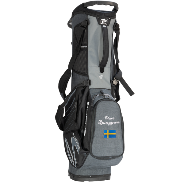 Cobra Ultralight Stand Bag med namn+flagga (Black Shadow)