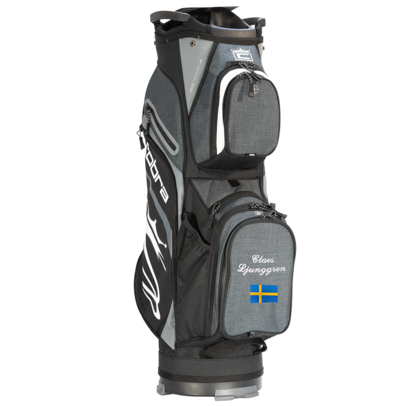 Cobra Ultralight Cart Bag med namn+flagga (Black Shadow)