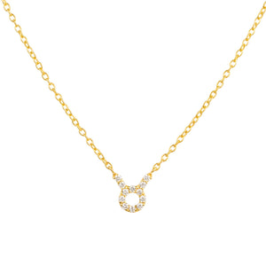 Diamond Zodiac Necklace Gold Taurus