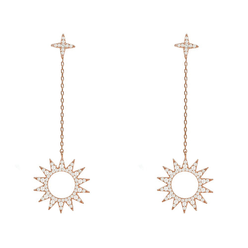 Day and Night Sun Earrings Rosegold