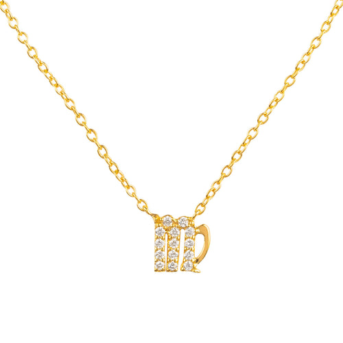 Diamond Zodiac Necklace Gold Virgo