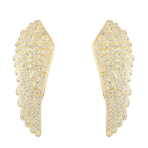 22ct Gold Vermeil Large Angel Wing Earrings