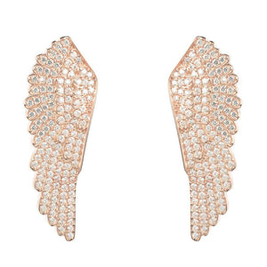 22ct Rose Gold Vermeil Large Angel Wing Earrings