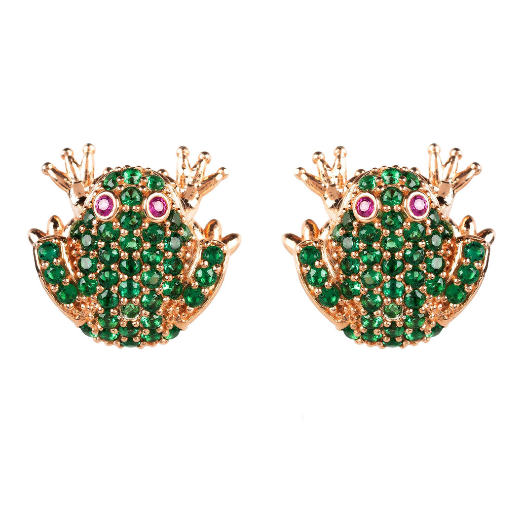 The Frog Prince Stud Earrings Rosegold