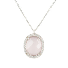 Beatrice Necklace Silver Rose Quartz