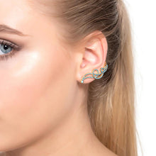 Shooting Star Ear Climber Turquoise
