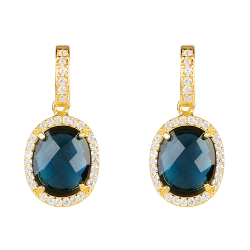 Beatrice Earrings Gold Sapphire Hydro