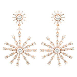 Baguette Big Bang Earring Rosegold