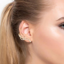 Shooting Star Ear Climber Rose Gold