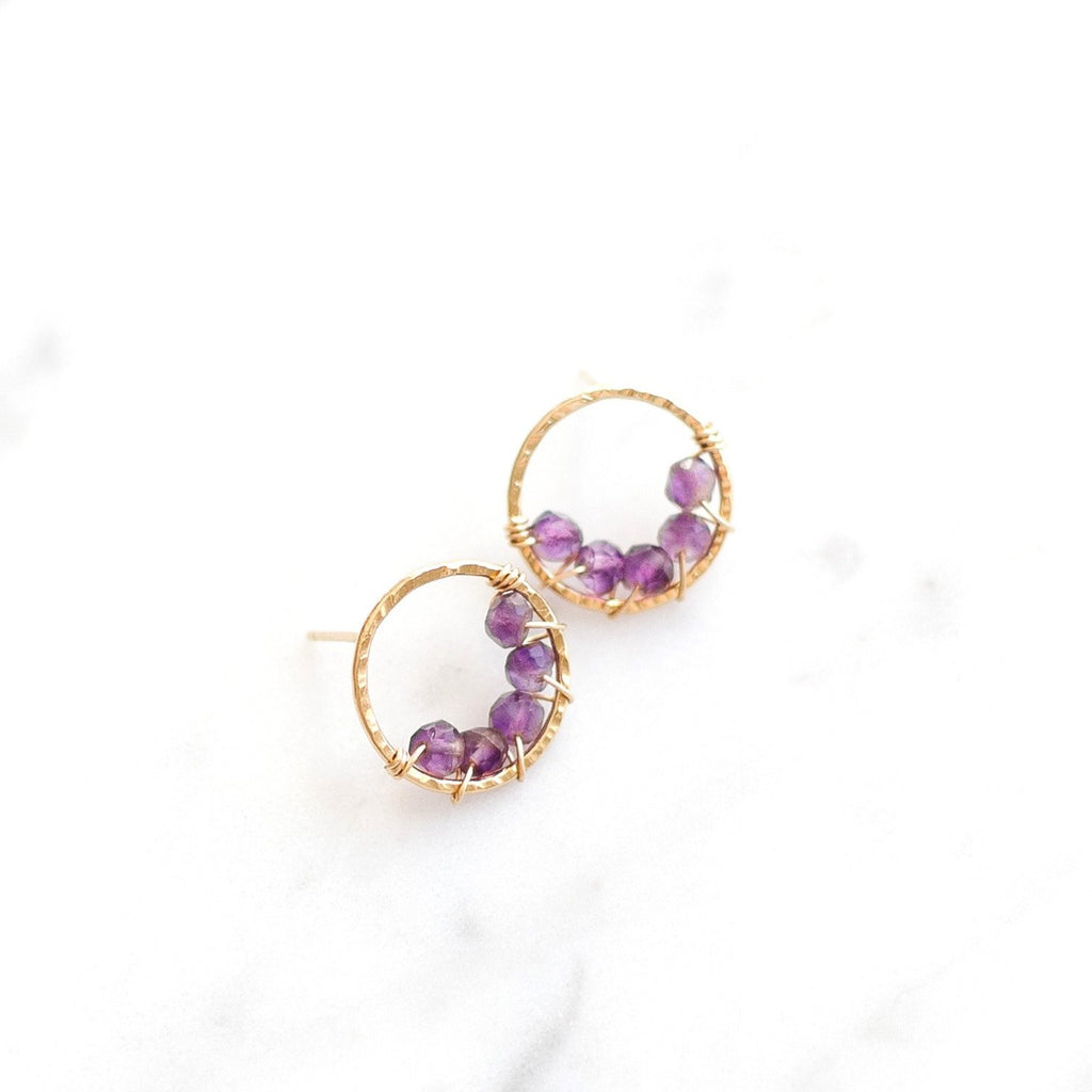 Large Pixie Posts - Amethyst - Amelia Lawrence Jewelry