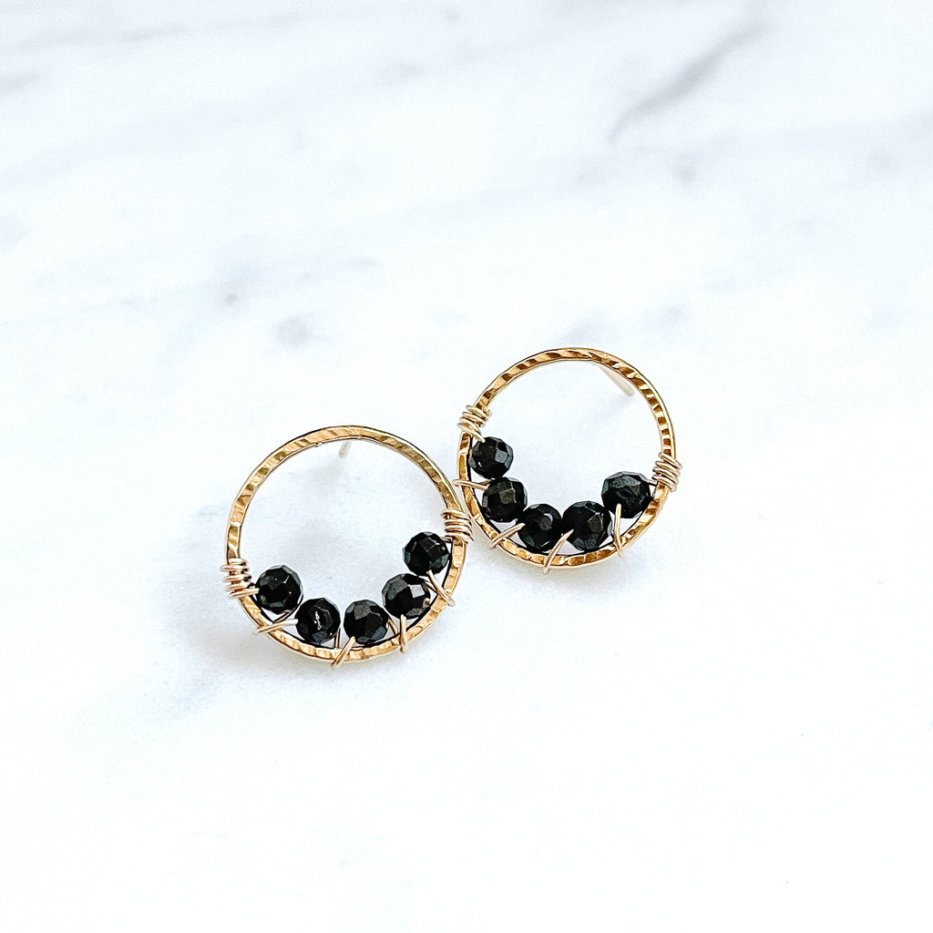 Large Pixie Posts - Black Onyx - Amelia Lawrence Jewelry