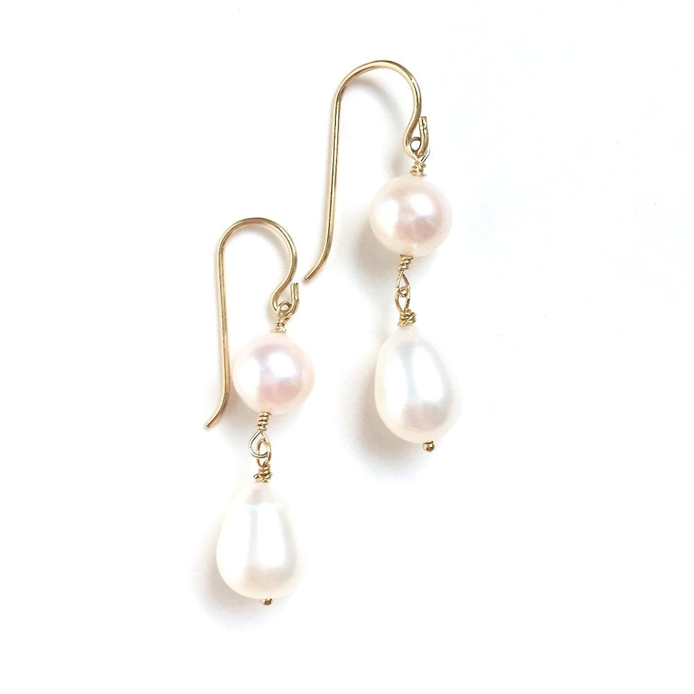 Fresh Water Pearl Drop Earrings - Amelia Lawrence Jewelry