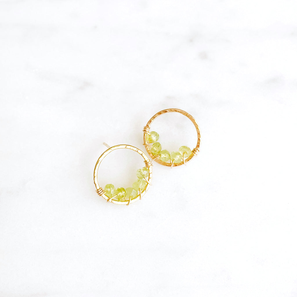 Large Pixie Posts - Peridot - Amelia Lawrence Jewelry