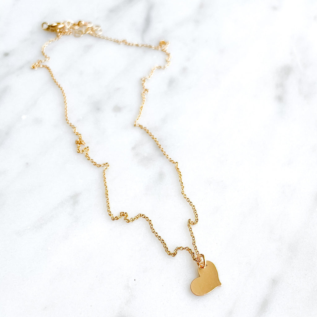 Heart Drop Necklace - Amelia Lawrence Jewelry