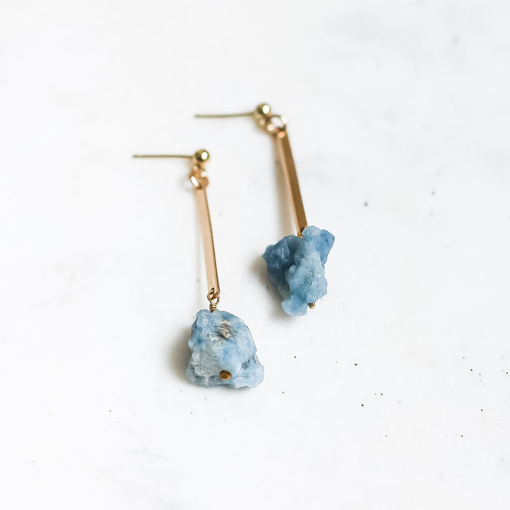 Iris Earrings - Aquamarine - Amelia Lawrence Jewelry