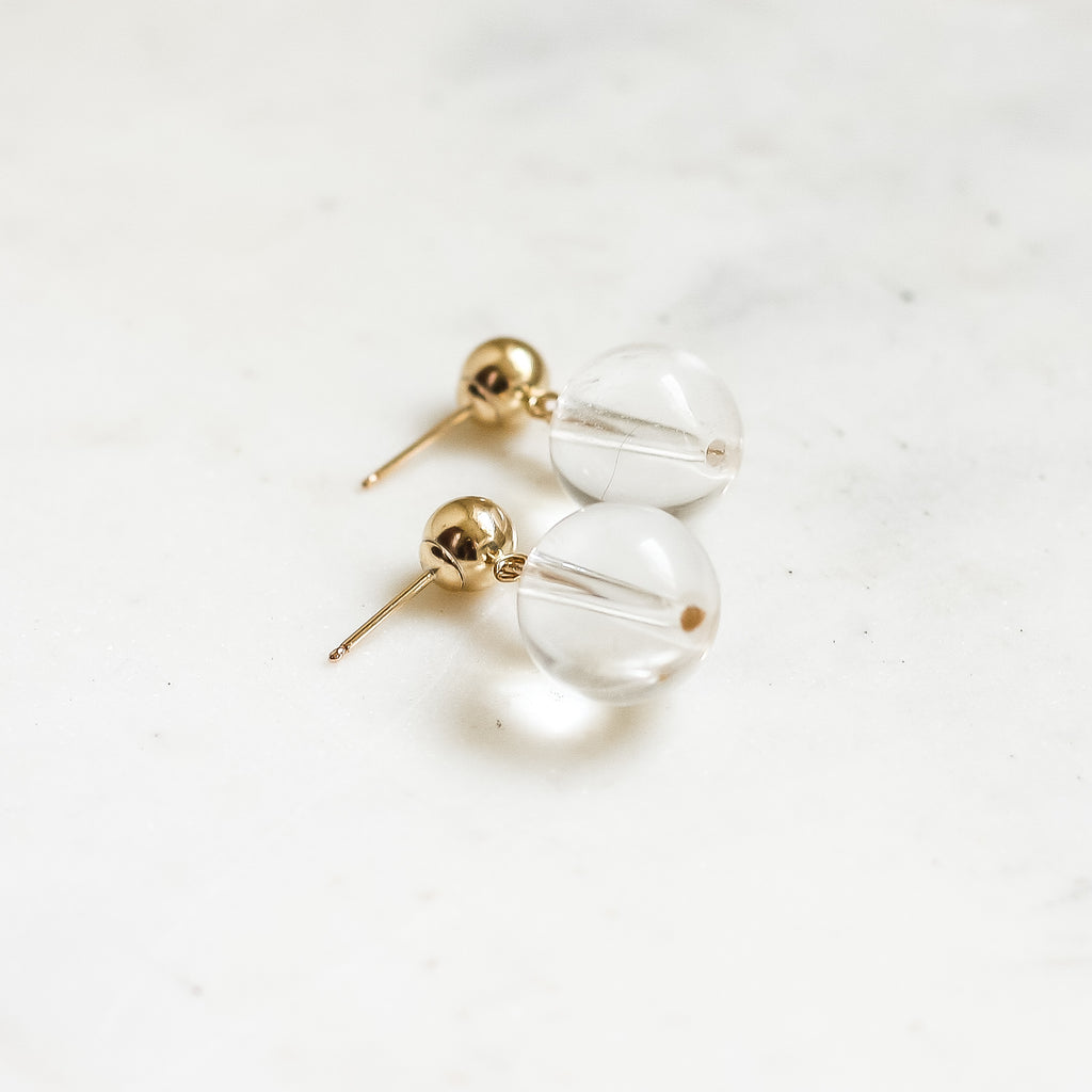 BonBon Earrings - Quartz - Amelia Lawrence Jewelry
