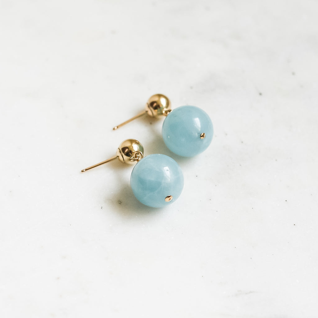 BonBon Earrings - Aquamarine - Amelia Lawrence Jewelry
