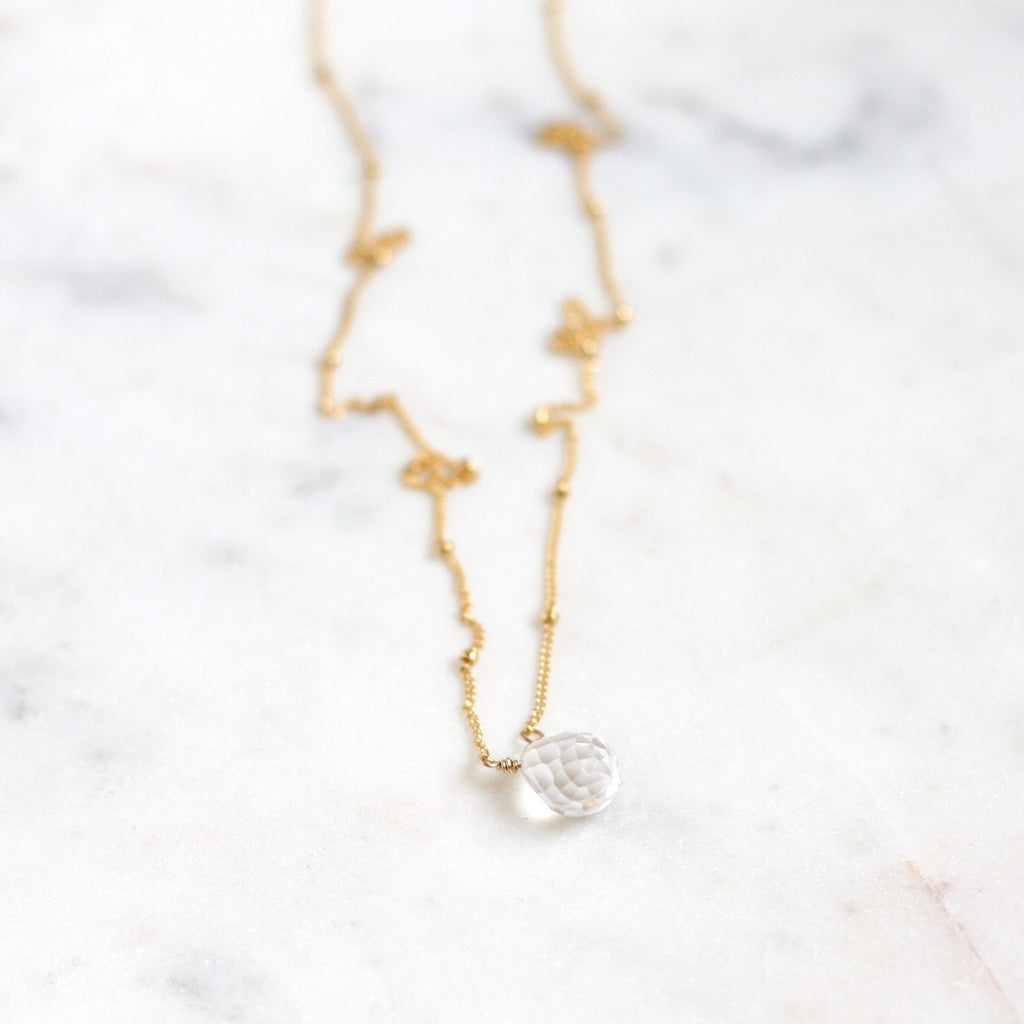 Olivia Necklace - Crystal Quartz - Amelia Lawrence Jewelry
