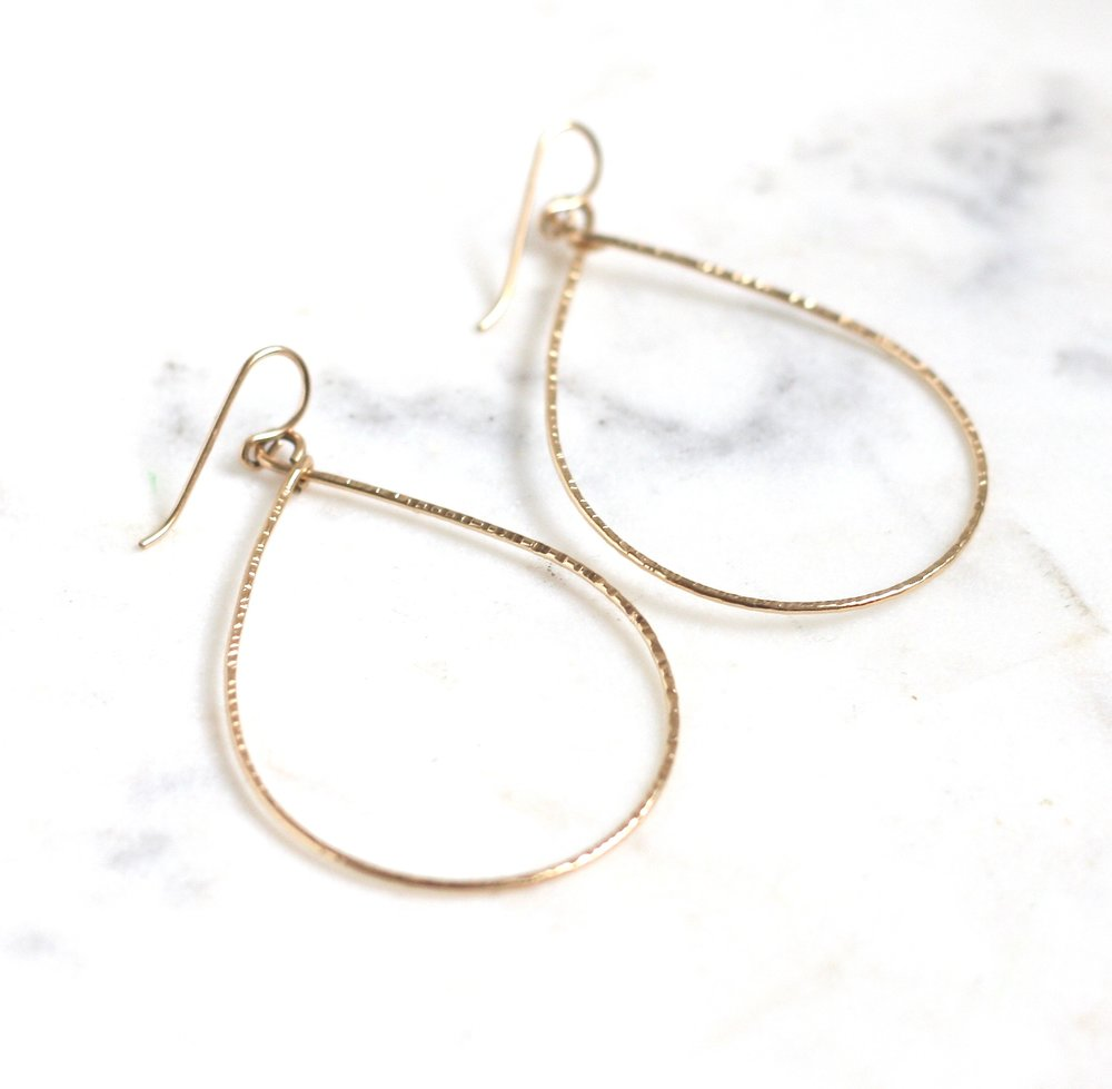 Rebecca Hoops - Large - Amelia Lawrence Jewelry