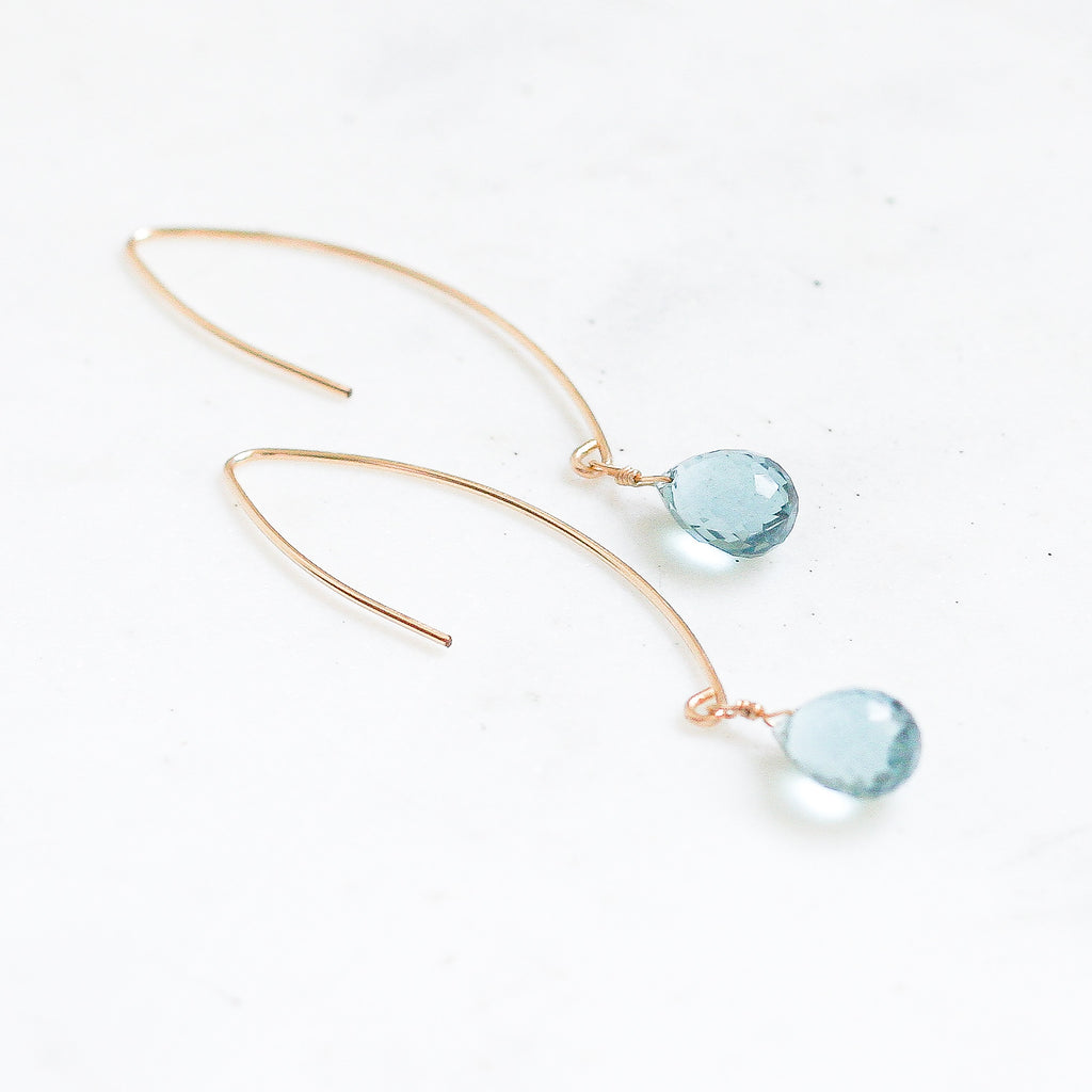 Amelia Earrings - Blue Quartz - Amelia Lawrence Jewelry