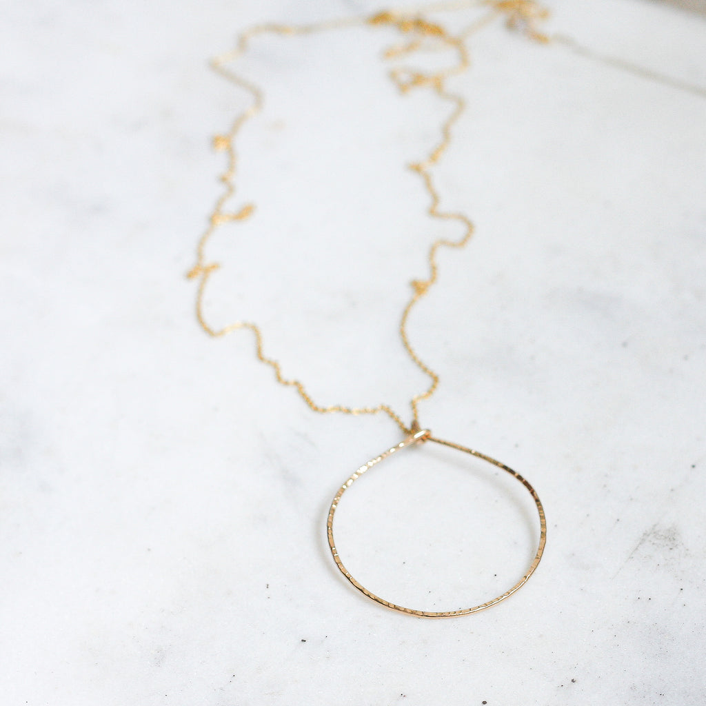 Rebecca Long Necklace - Circle - Amelia Lawrence Jewelry