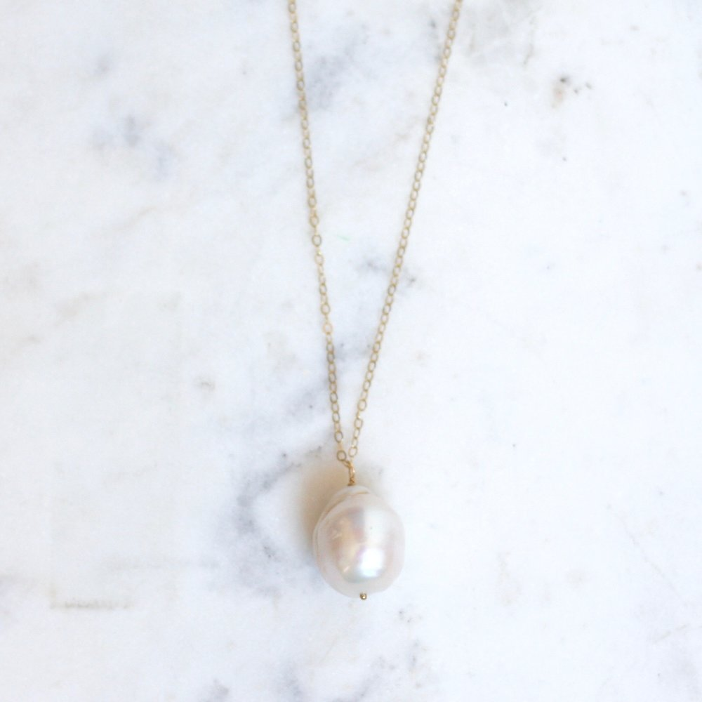 Baroque Pearl Necklace - Amelia Lawrence Jewelry