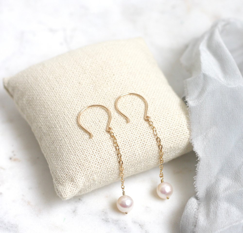 Suzanne Dangle Earrings - Pearl - Amelia Lawrence Jewelry
