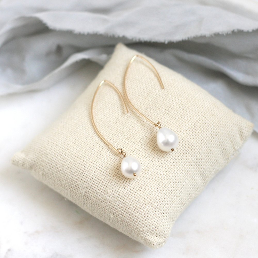 Amelia Earrings  - Pearl - Amelia Lawrence Jewelry