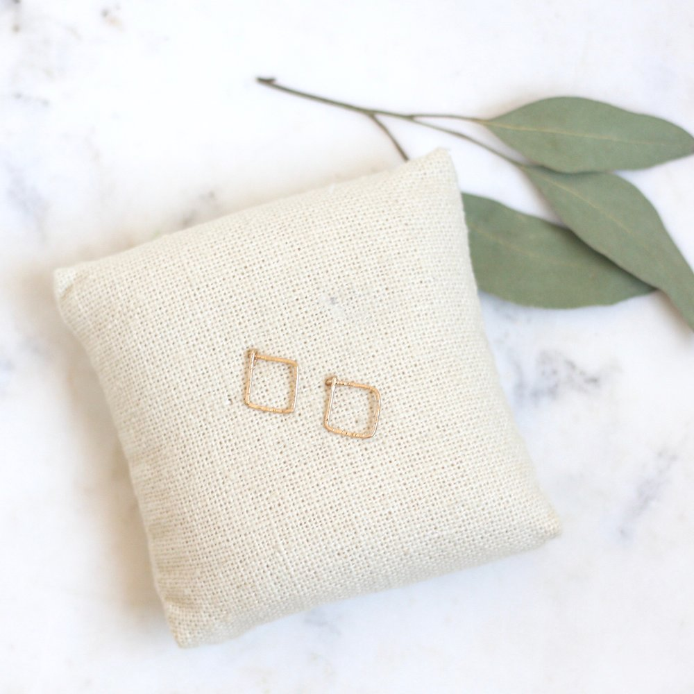 Pixie Posts - Square - Amelia Lawrence Jewelry