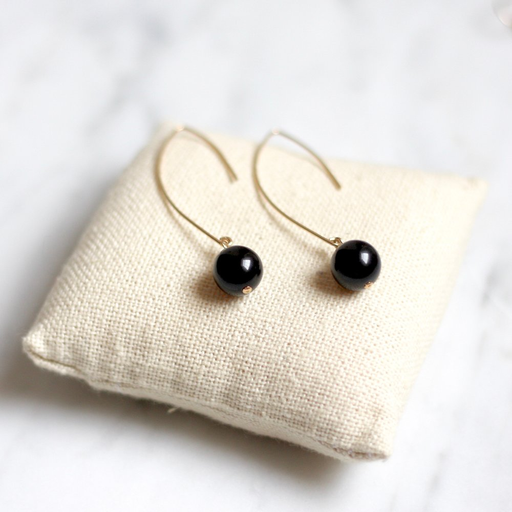 Amelia Earrings - Black Onyx - Amelia Lawrence Jewelry