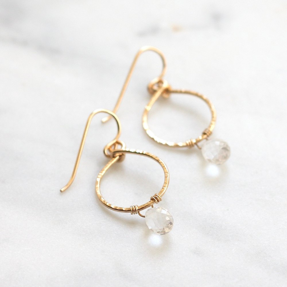 Emma Hoops - Quartz - Amelia Lawrence Jewelry