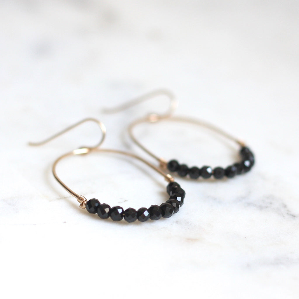 Luna Hoops - Black Spinel