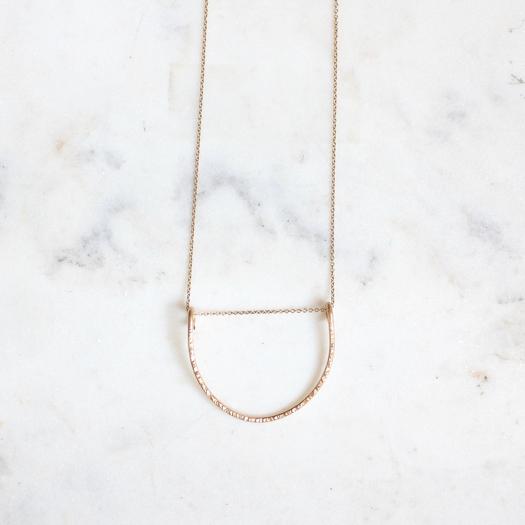 Leyanah Arch Necklace - Large Short - Amelia Lawrence Jewelry