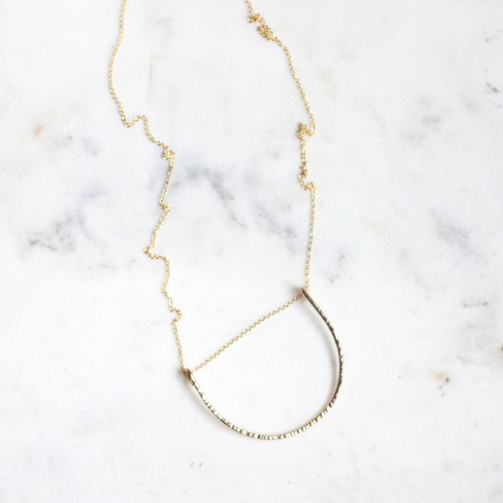 Leyanah Arch Necklace - Large Long - Amelia Lawrence Jewelry