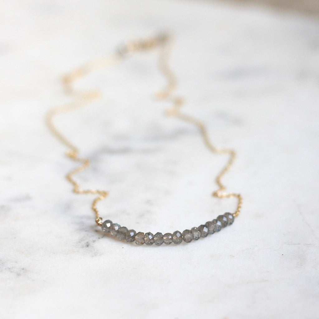 Anna Necklace - Labradorite - Amelia Lawrence Jewelry