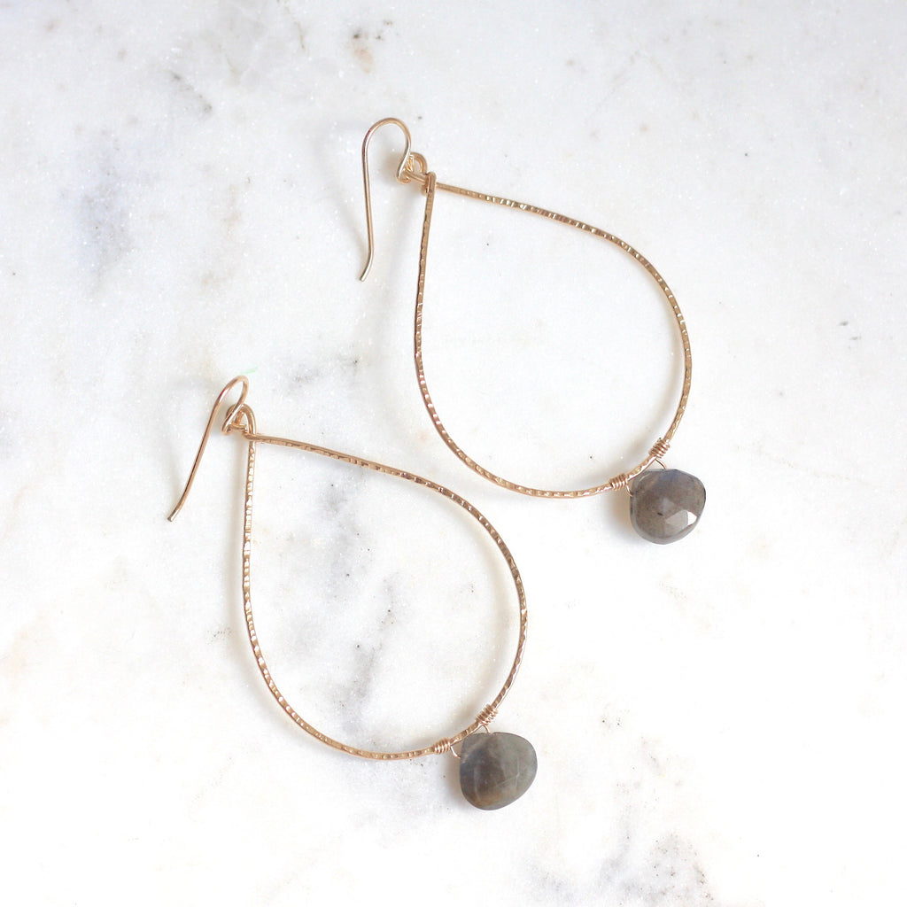 Patricia Hoops - Labradorite - Amelia Lawrence Jewelry