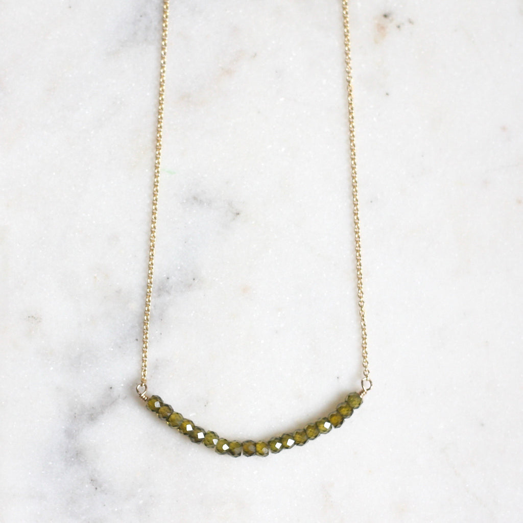 Anna Necklace - Green Zircon - Amelia Lawrence Jewelry