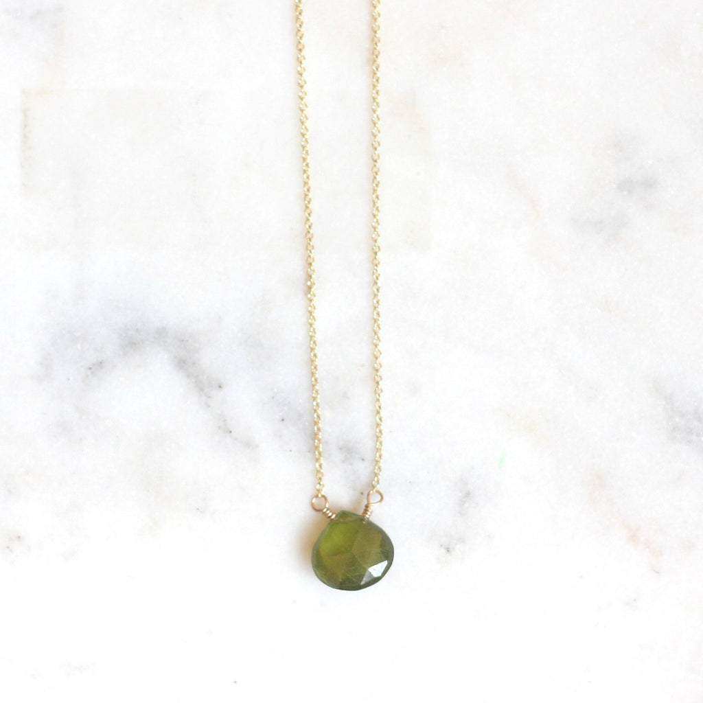 Olivia Necklace - Vessuvianite - Amelia Lawrence Jewelry